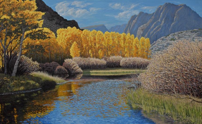 "Rush Creek | 36"" x  58"" | Acrylic on Canvas"